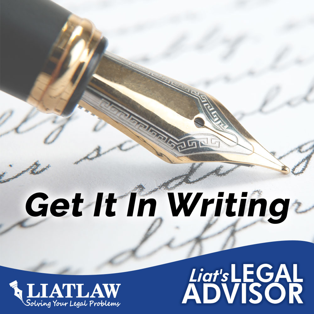 Get it in Writing